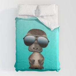 Cool Baby Platypus Wearing Sunglasses Comforters