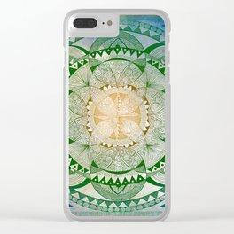 Metta Mandala, Loving Kindness Meditation Clear iPhone Case