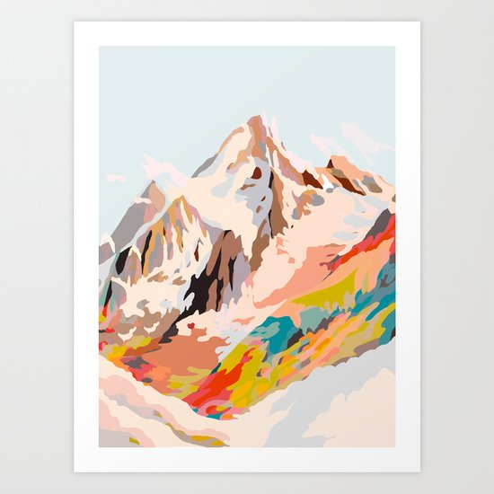 glass mountains by artandghosts