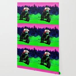 Checking the Track - Motocross Racer Wallpaper