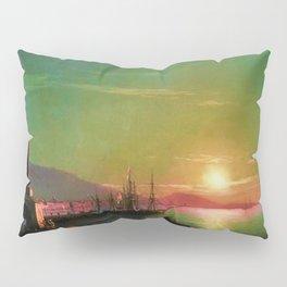 Sunrise in Feodosia on the Black Sea by Ivan Aivazovsk Pillow Sham