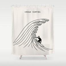 Crowd Surfing Shower Curtain