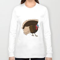thanksgiving Long Sleeve T-shirts featuring Thanksgiving Turkey by Yatasi