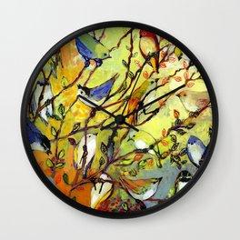 16 Birds Wall Clock
