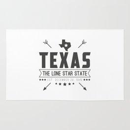 Texas State Badge Rug