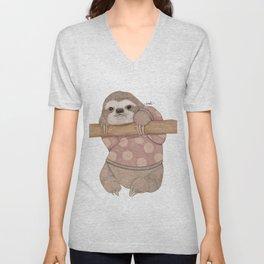 Slothy Unisex V-Neck