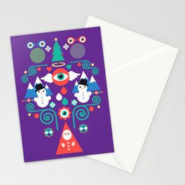 Christmas - purple pop Stationery Cards