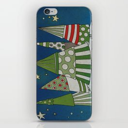 Night in the Winter Forest iPhone Skin
