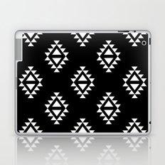 Linocut southwest minimal pattern black and white print scandinavian minimalism Laptop & iPad Skin