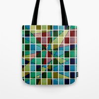 mosaic Tote Bags featuring Mosaic by Tammy Kushnir
