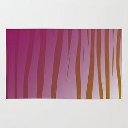 wild design exotic lines Pink Rug