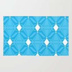 Abstract [BLUE] Emeralds Rug