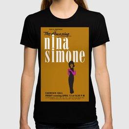 1963 African American Classic Carnegie Hall Nina Simone Gig Concert Poster T-shirt