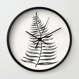 Black Palm Leaf Wall Clock