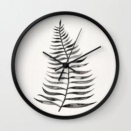 Black Palm Leaf Wall Clock
