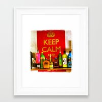 college Framed Art Prints featuring College by CR.prints