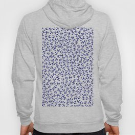 Maritime Anchors pattern- blue anchor on white background Hoody