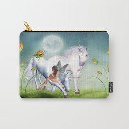 Einhorn und Fee - Unicorn and Fairy Carry-All Pouch