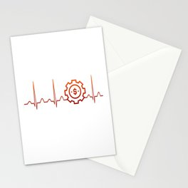 BUSINESS MANAGER HEARTBEAT Stationery Cards