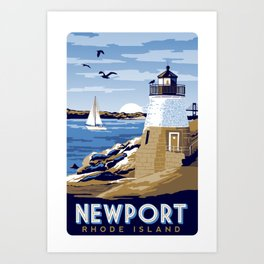 Newport Rhode island vintage travel poster Art Print