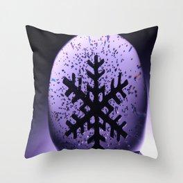 Snowflake Snow Globe Throw Pillow