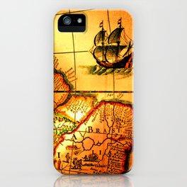 map sea iPhone Case
