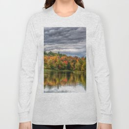Reflection in Pond Vermont Autumn Long Sleeve T-shirt