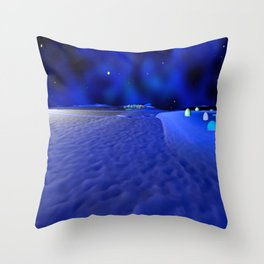 Mission to the Frozen Moon Throw Pillow