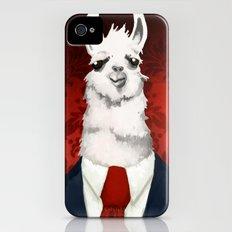 Formal Llama - Red iPhone (4, 4s) Slim Case