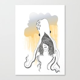 Wear Umbrella Canvas Print