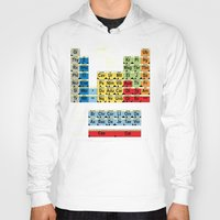 periodic table Hoodies featuring Periodically Fictional Table by AMO Design