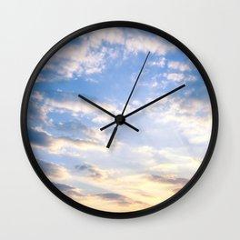 Cloudy Sky at Sunset Wall Clock