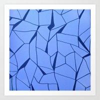 blueprint Art Prints featuring BluePrint by Elina Larsson