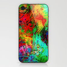 BUTTERFLY FEVER - Bold Rainbow Butterflies Fairy Garden Magical Bright Abstract Acrylic Painting iPhone & iPod Skin