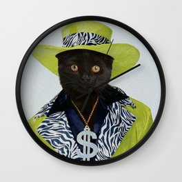 Pimp Cat Wall Clock