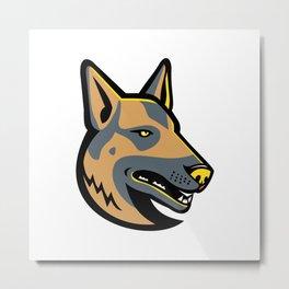 German Shepherd Dog Mascot Metal Print
