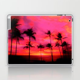 tropical pink, palm trees at sunset sundown,,,house of harlequin Laptop & iPad Skin