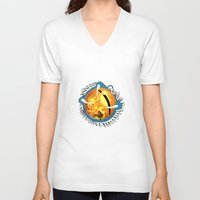skyfall V-neck T-shirts featuring Skyfall Dragon's Eye by Pr0l0gue