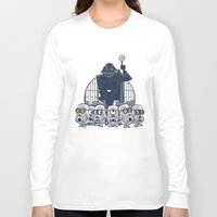 minions Long Sleeve T-shirts featuring Stormtrooper Minions by Hugo Martin