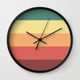 Retro Stripes Wall Clock