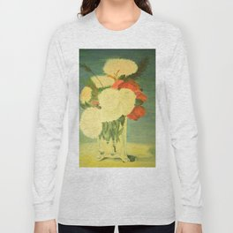 flowers in a glass vase . Oil painting . art Long Sleeve T-shirt