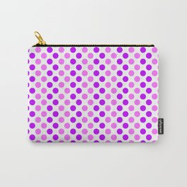 Purple and Pink Polka Dots Carry-All Pouch