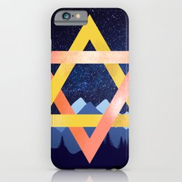 Triangles over Mountains iPhone Case