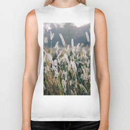 Whimsical Tall Grass Nature Field Landscape Photo Biker Tank