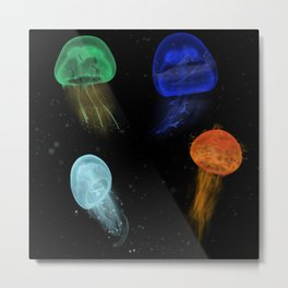 Elemental Jelly Fish Metal Print