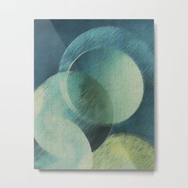 The Phases of the Blue Moons Metal Print