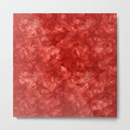 Dark pastel variegated red stars in the projection. Metal Print