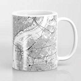 Philadelphia White Map Coffee Mug