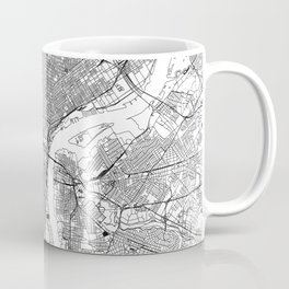 Philadelphia White Map Coffee Mug