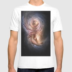 Galaxy Mens Fitted Tee White MEDIUM